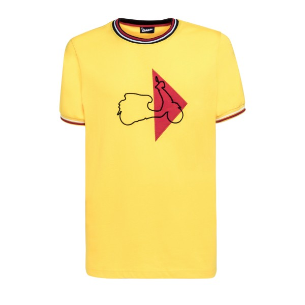 Vespa T-Shirt Modernist Herren gelb