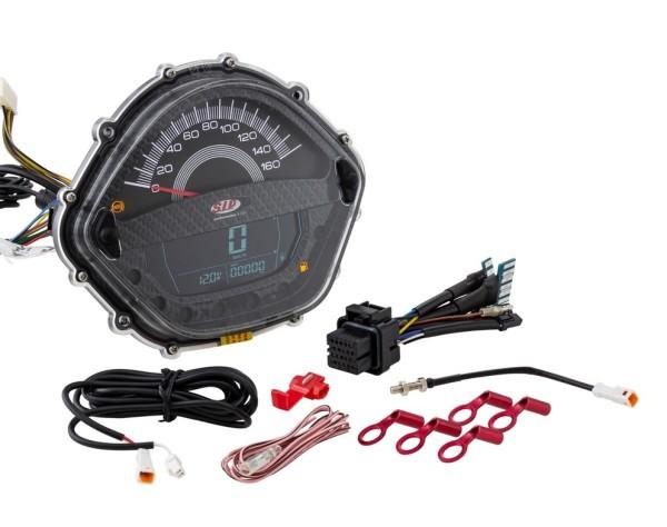 Drehzahlmesser/Tacho für Vespa GT/GT L 125/200ccm/ GTS 125ccm, carbon-look