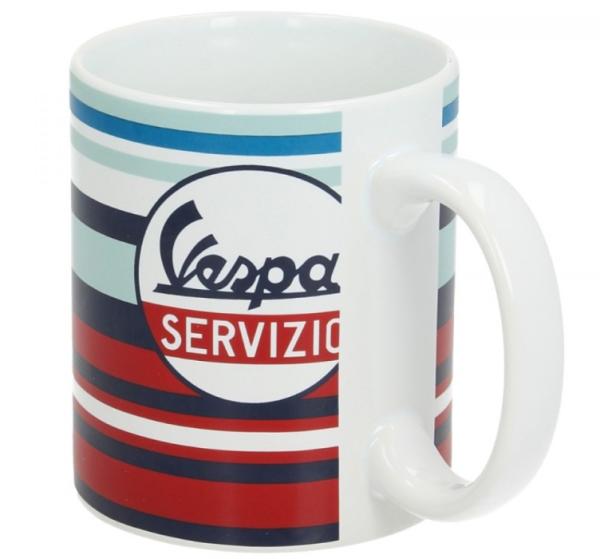 Vespa Tasse Servizio rot blau